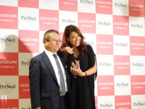 田中裕二代表取締役社長とタレントのLiLiCo